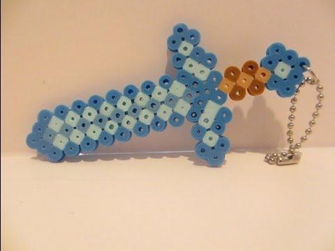 Hama Beads de Minecraft Espada