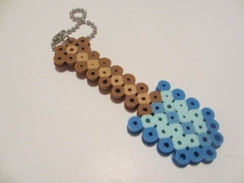 Hama Beads de Minecraft Pala