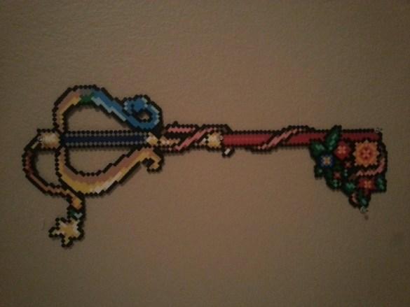 Hama Beads Llave
