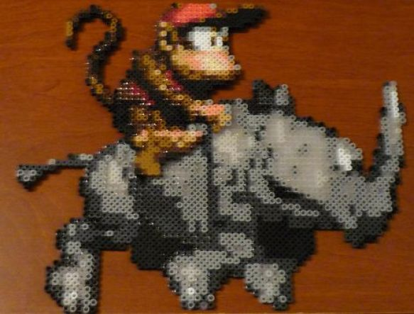 Hama Beads Diddy Kong