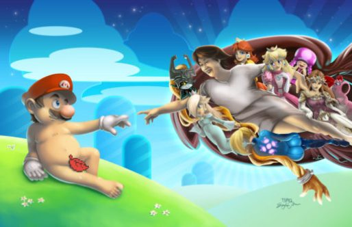 the creation of adam Super Mario