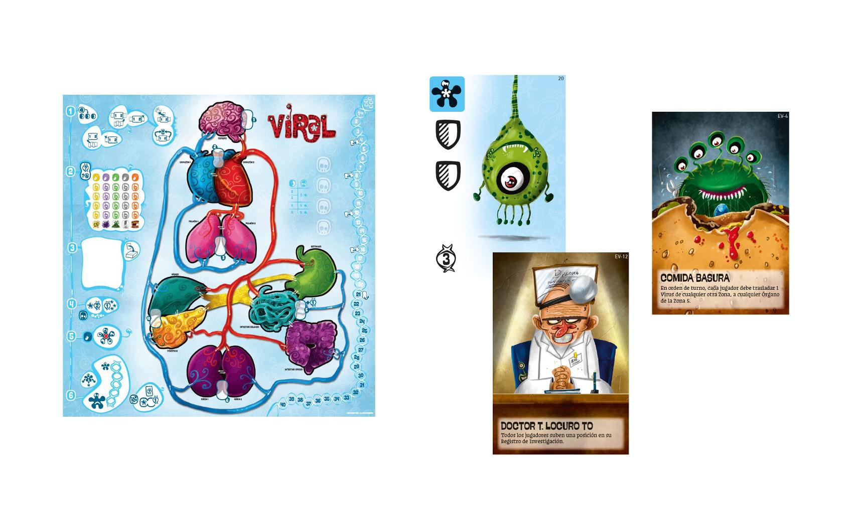 Viral la supervivencia de un virus en el cuerpo de un paciente consola y tablero - Juego mesa virus ...