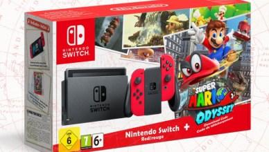 Pack Nintendo Switch y Super Mario Odyssey