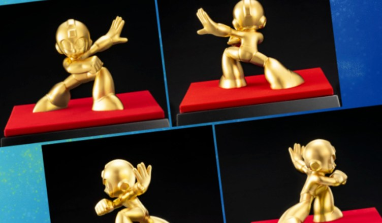 Mega Man figuras oro