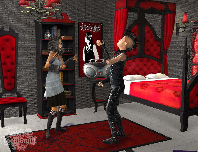 Les Sims 2 Teen Style Stuff Tests GamesUPch