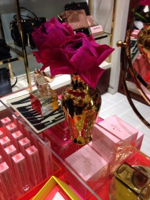 Simple, girly touches on the perfume table