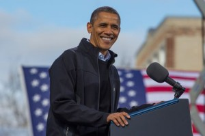 President Barack Obama on the campaign trail. (Photo credit: barackobama.com)