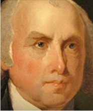 President James Madison, an architect of the U.S. Constitution and the Bill of Rights, but also a Virginia slave owner.