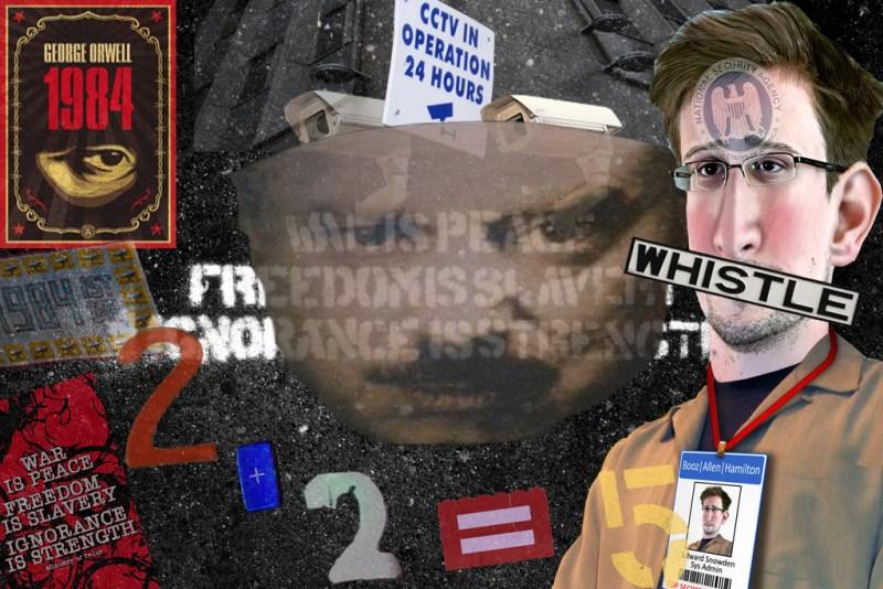 Photomontage with Snowden. (idccollage via Flickr)