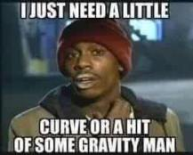 hit of gravity or curve