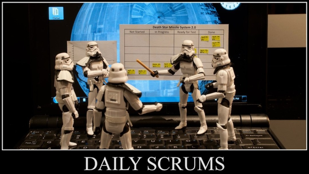 Scrumtroopers at work