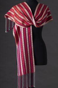 Luxurious reversible silk scarf – Mardi Gras