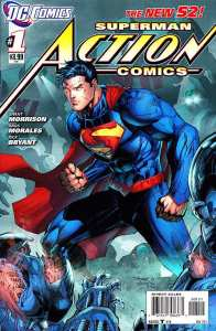 Cover of action Comics #1 in the New 52 Line