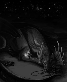 Laurence reading to Temeraire. Photo source: http://www.naominovik.com/gallery/