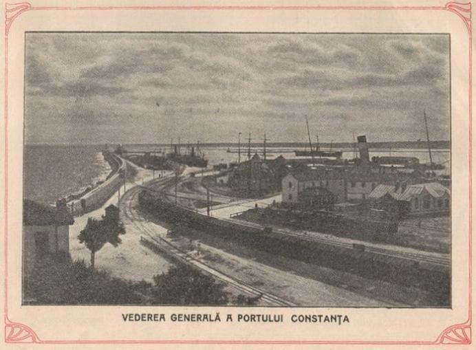 Vedere generală a portului Constanța