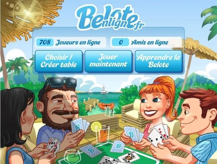 BeloteEnLigne.fr - Le meilleur jeu de Belote sur Facebook !   Le blog de Constantin