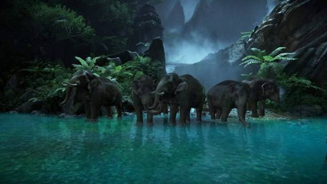 Uncharted Lost Legacy Elephants