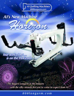Horizon quilting machine