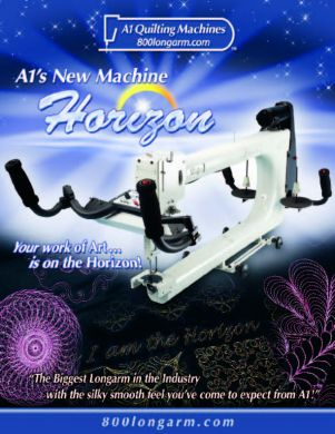Horizon quilting machine