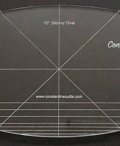 10 skinny oval