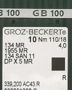 Groz Beckert 134x5 size MR4.0