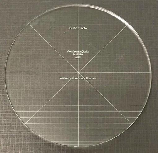 "6 1/2"" circle"