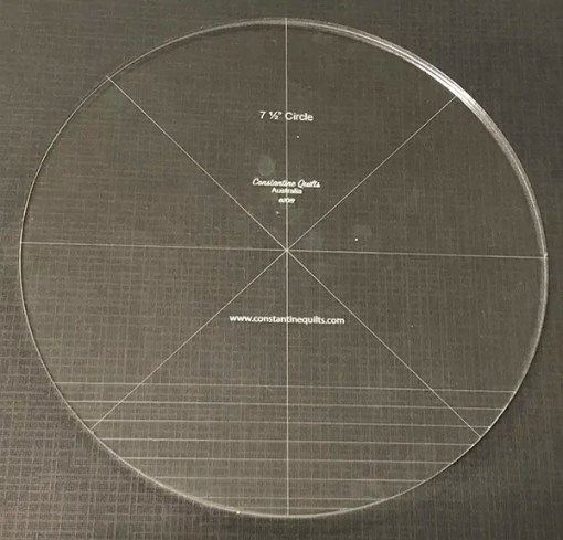 "7 1/2"" circle"