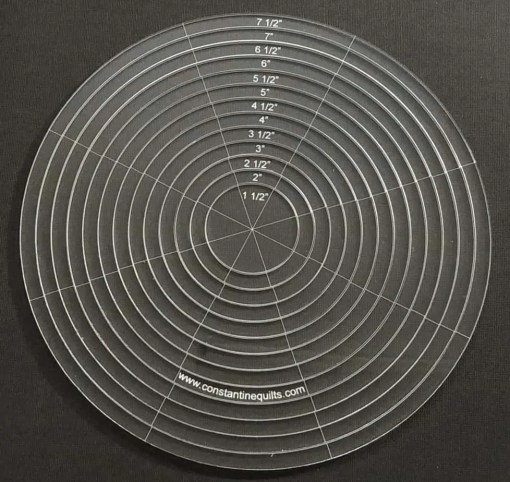 """Nested 1-7 1/2"""" circles"""