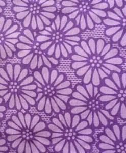 Purple Daisy wide fabric
