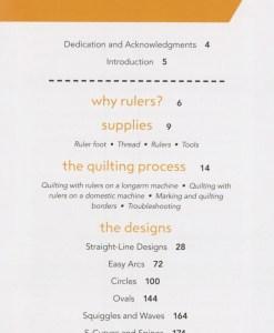 Rulerwork Quilting Idea Book Content