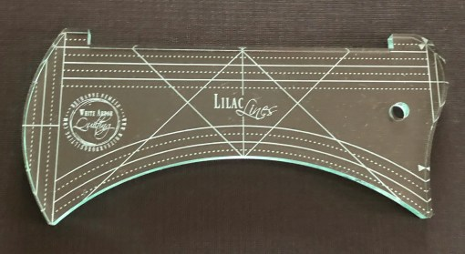 Lilac Lines Concave Ruler