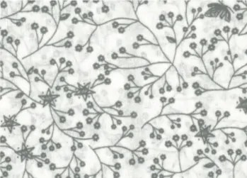 Flutter wide fabric grey on white