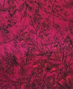 Plum textured wide fabric