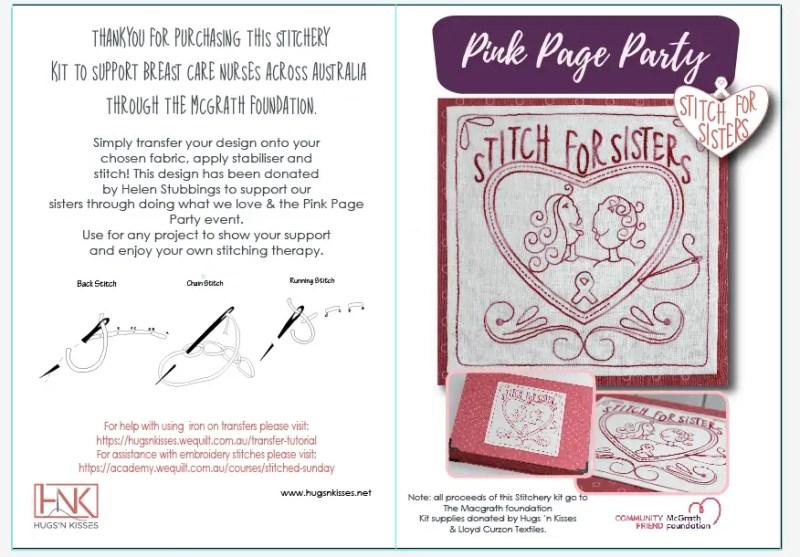 Pink Page Party Stitching Kit