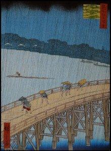 Hiroshige Le pont Ohashi et Atake