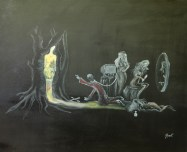 Artistul, ulei pe pânză, 80x60 cm, an: 2008