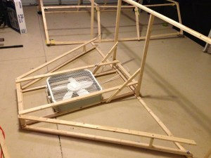 Wing Frame with Fan Installed
