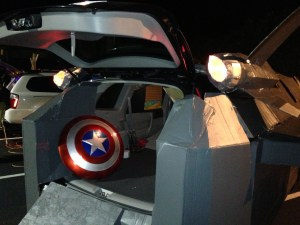Quinjet with Captain America Shield