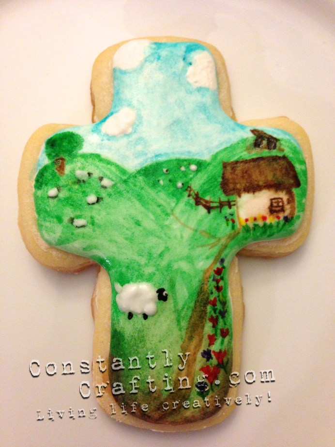 Hand Painted Ireland Cookie