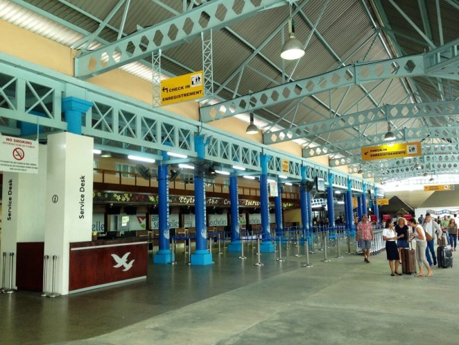 Seychelles International Airport, The check in at the Pointe Larue, Seychelles International Airport