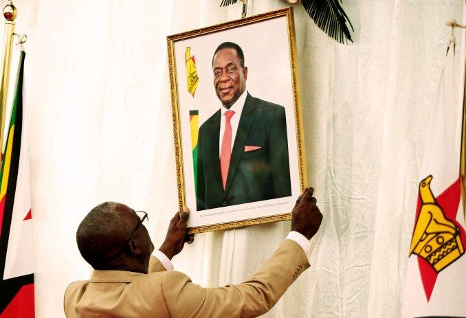 Portrait of President Emmerson Mnangagwa (photo credit: Reuters)