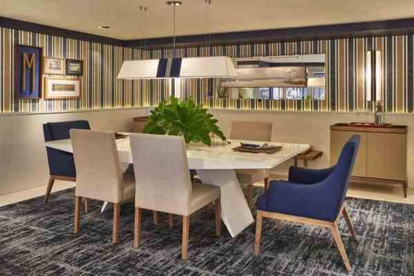 sala de jantar elegante e moderna