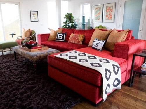 13 sofa vermelho na decoracao chique