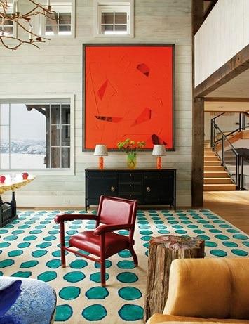 tapete estampado colorido com bolinhas
