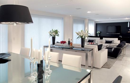 Sala De Tv E Jantar Em L ~ 14 Fotos Decoração Preto e Branco para Sala de Estar Inspiração