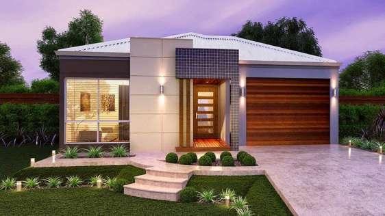 fachada contemporanea com telhado aparente