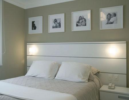 cabeceira branca com negativos simples quarto de casal