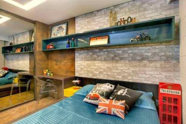 12 quarto moderno com tijolo a vista
