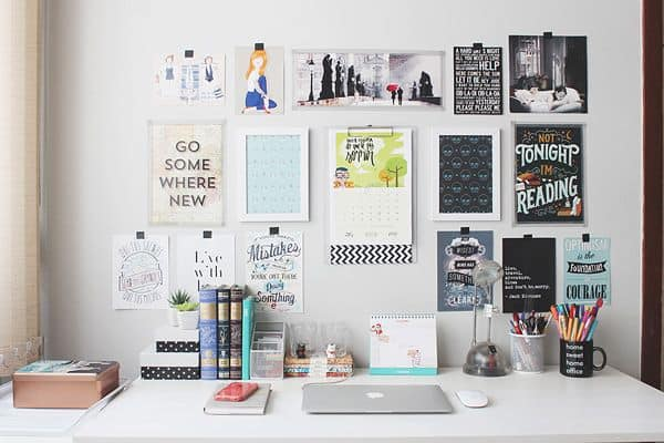 20 ideias de decoração com quadros de frases