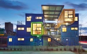 materiais sustentáveis - containers